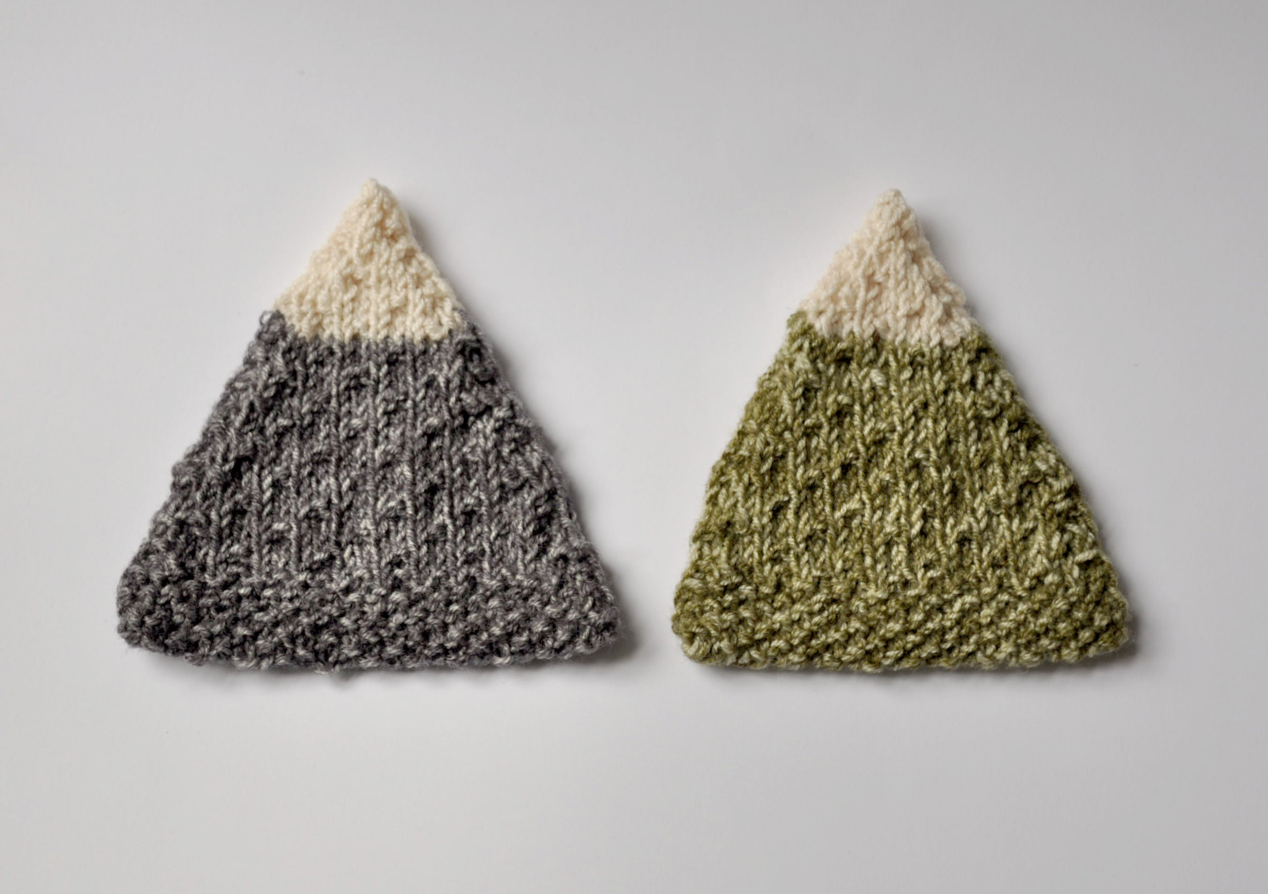 Knitted Mountain Coasters