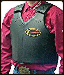 Adult Leather Bull Riding Vest