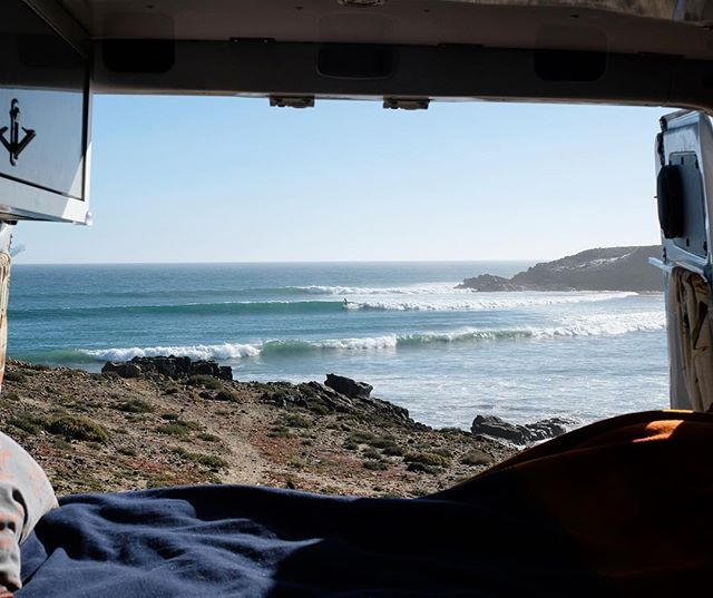 A room with a view.  Epic trip down to Baja with @watson_lloyd last week. First time my legs were more sore than my arms after a surf . . . #mexicosurf #drivenbymegawats #vanlife #bajasurf #pendleton