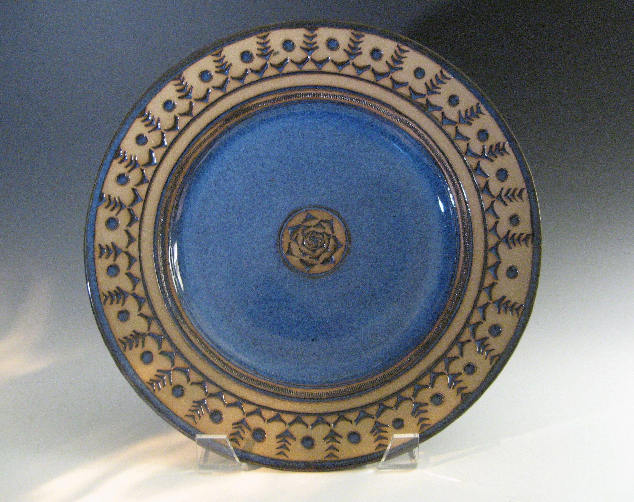 Sapphire blue serving plate