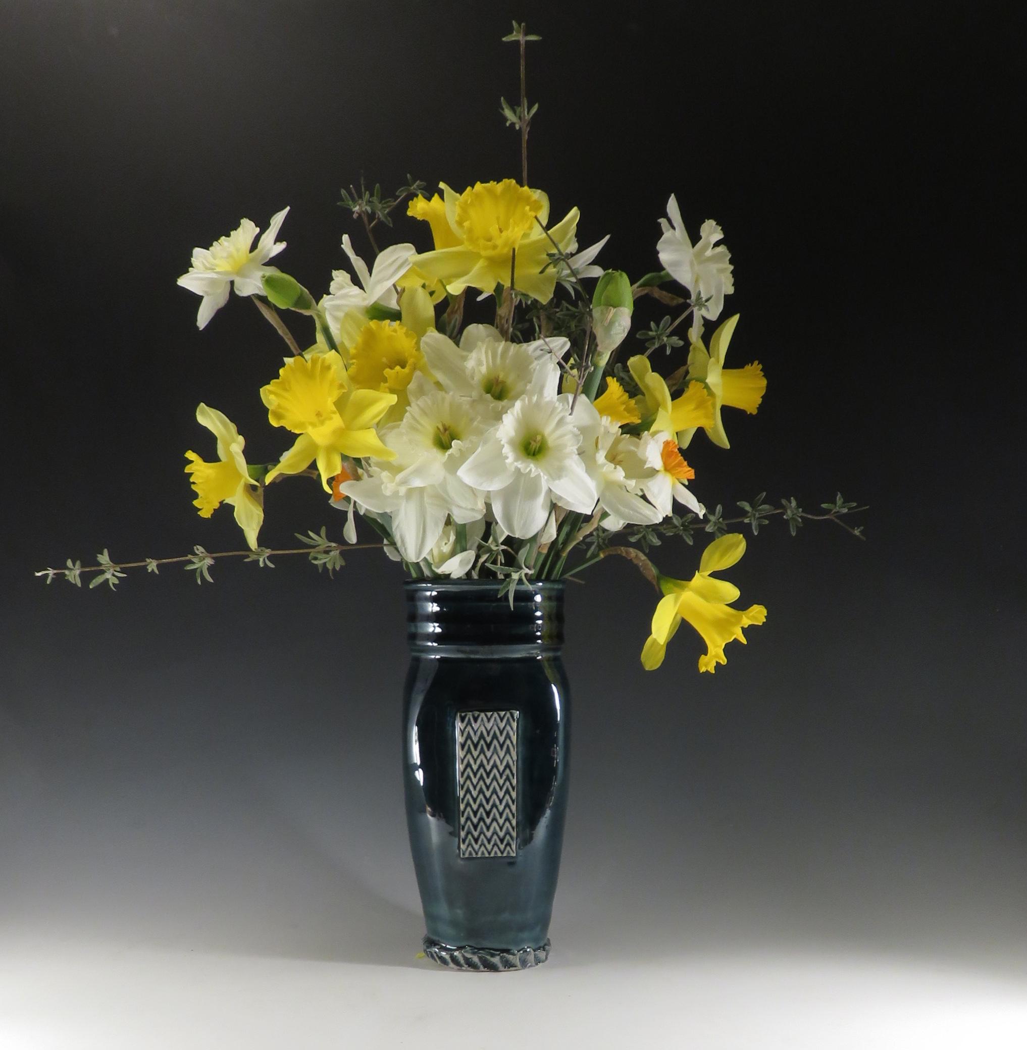 Sea blue vase