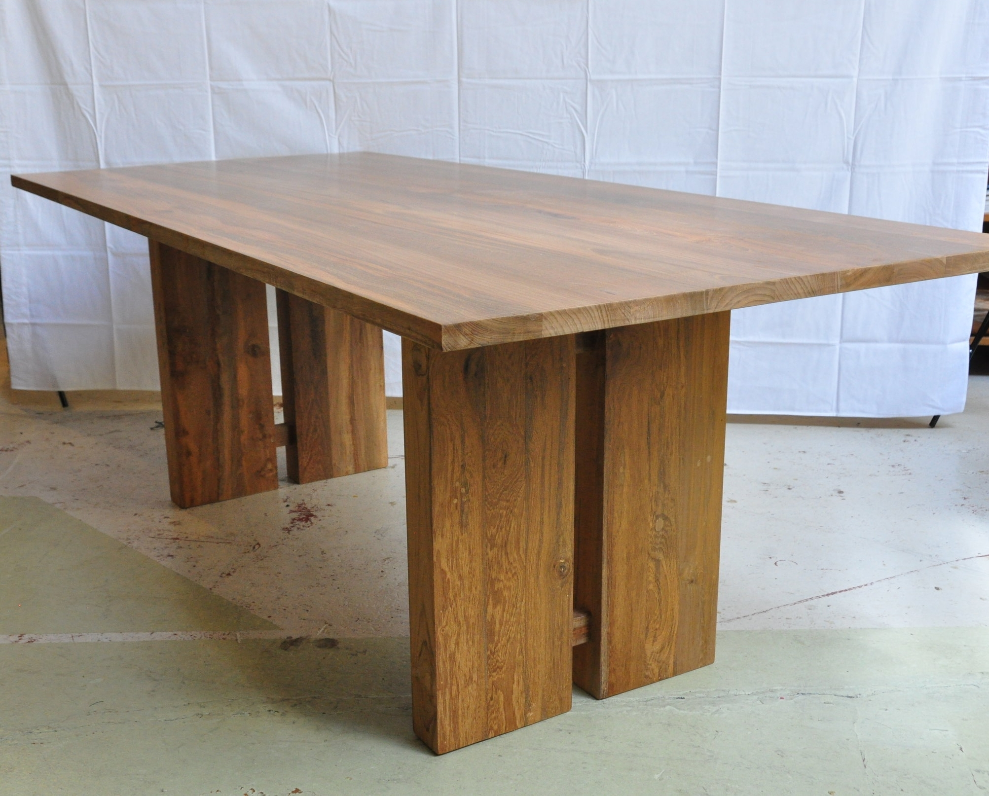 "Teak Log Table  $1,900, 72""L x 36""W x 30""H  $2,500, 84""L x 38""W x 30""H"