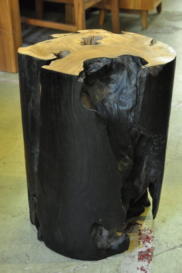 """Balok Cylinder Side Table  13.8""""D x 20.5""""H  Price: $255"""