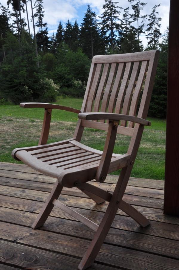 "Rose Folding Arm Chair  Price: $185  22""W x 23""D x 36""H"