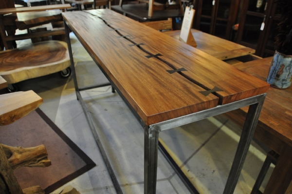 "Besi Saman Bar Table    Price: $1,295   83""L x 20""D x 41""H"