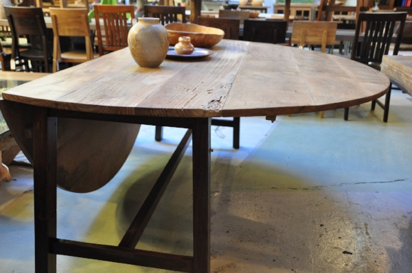"Drop Leaf Round Table   51""D x 30""H  Price:   $1,143   78""D x 30""H  Price:   $2,500"