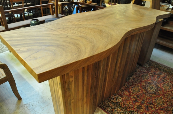 "Saman Sungai Bar Table     Price: $1,590   80""L x 25""D x 41""H"