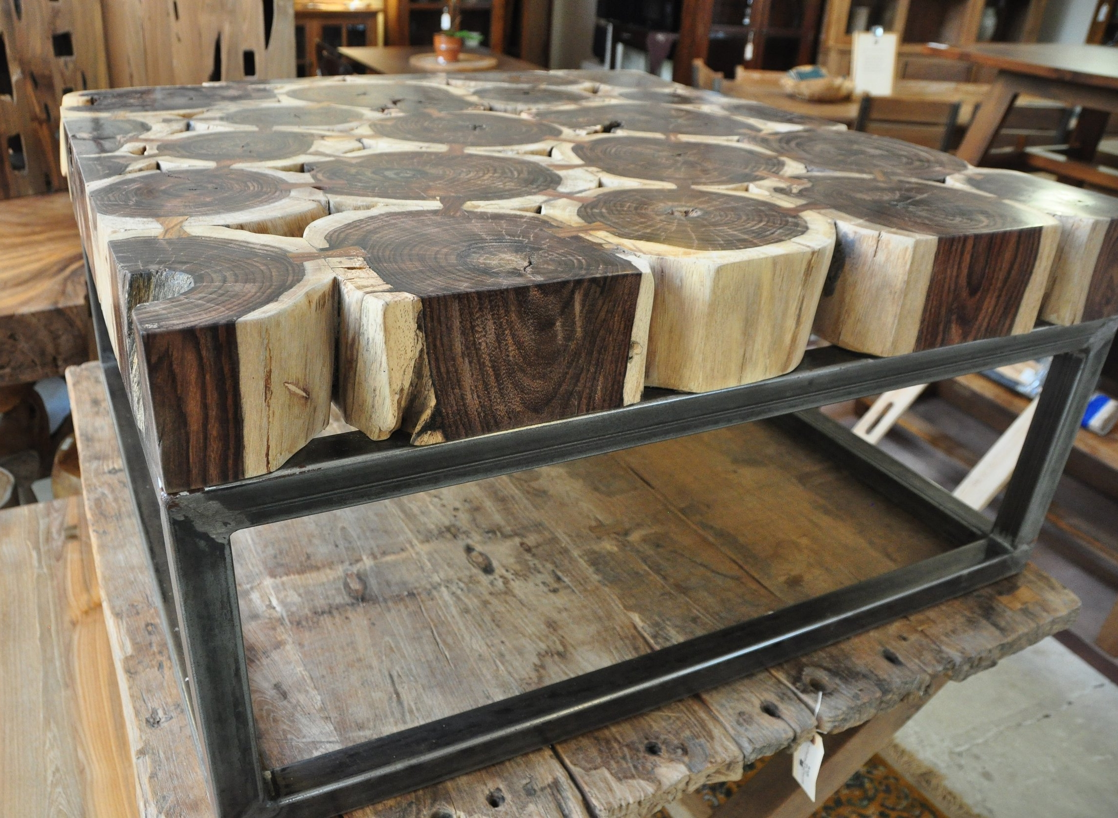"Sono Metal Square Coffee Table  39""W x 39""D x 20""H  Price: $995"