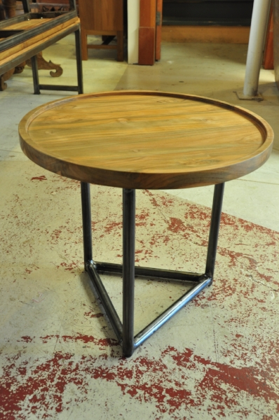 """Besi Round Side Table  21""""D x 19""""H  Price: $327"""