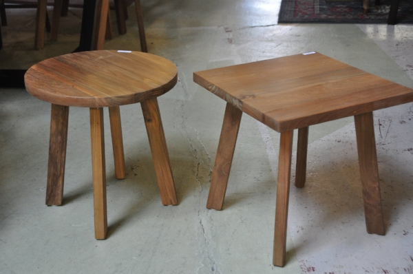 """Round & Square Side Tables  17.7""""D x 17.7""""H  Price: $130"""