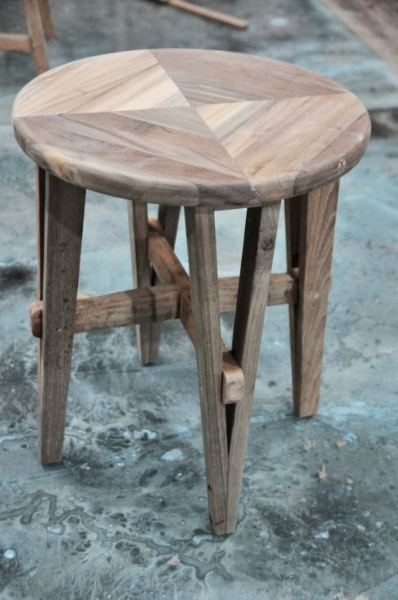 "Jarum Round Stool  Price: $160  15""D x 18""H"