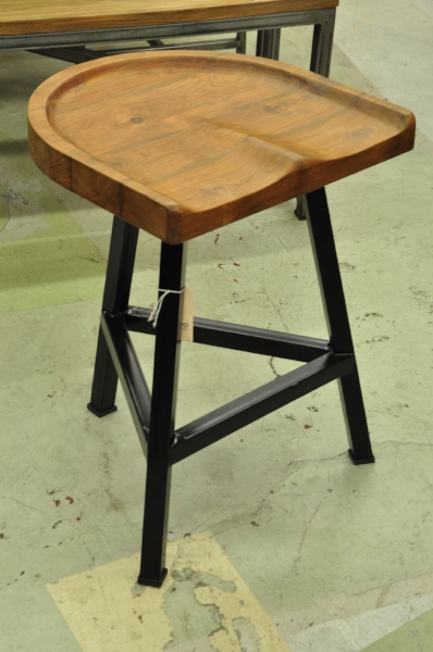 "Pantat Counter Stool Metal Base  Price: $250  18""W x 17""D x 24""H"