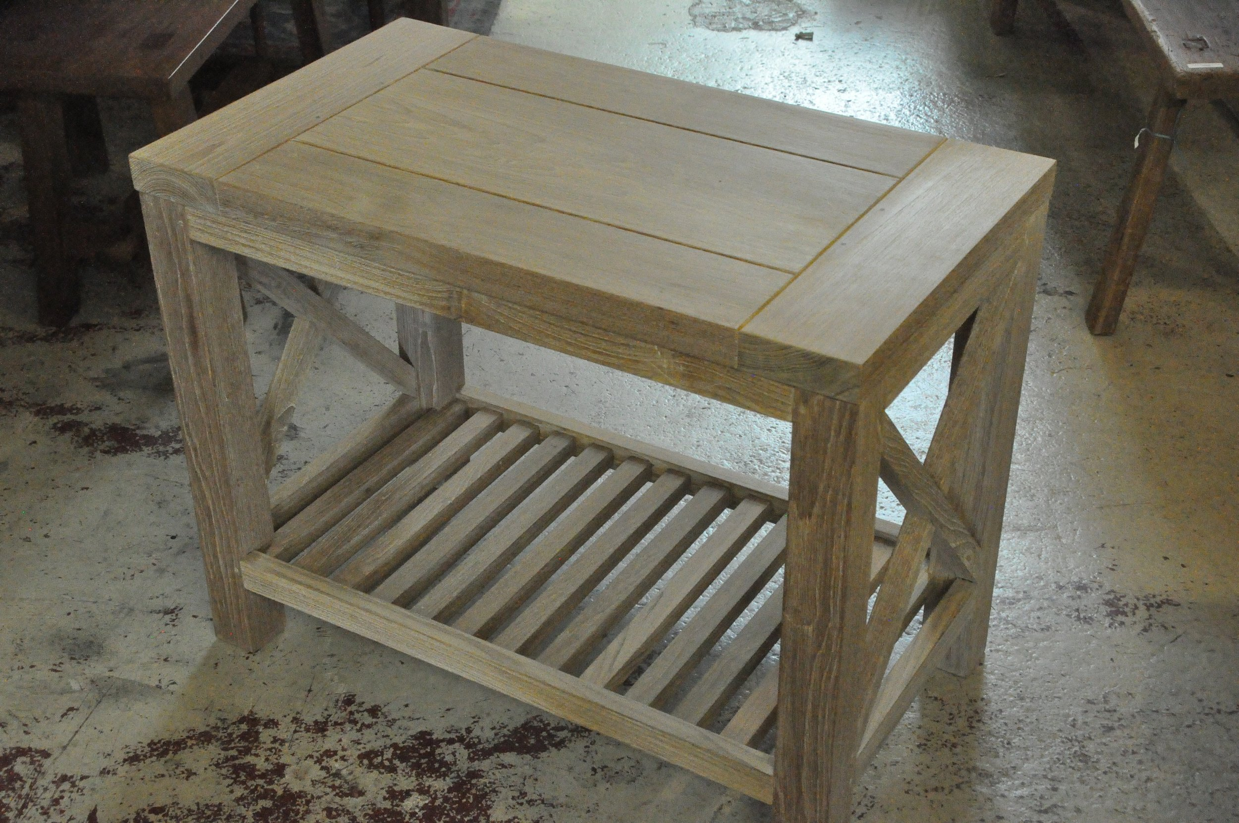 """X Side Table  32""""Wx18""""Dx25""""H  Price: $543"""