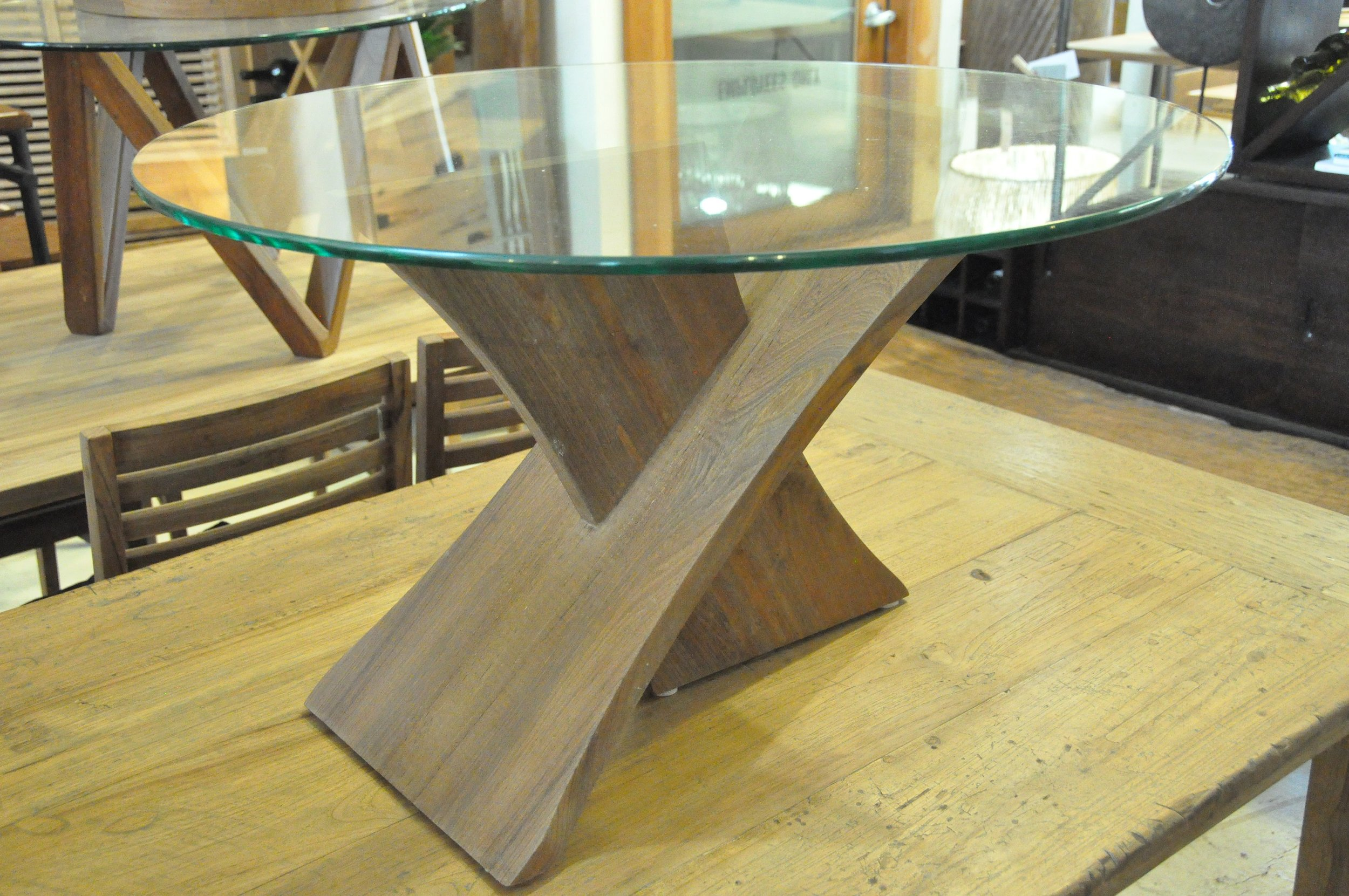 "Sayap Coffee Table  30""Dx17""H  Price: $565"