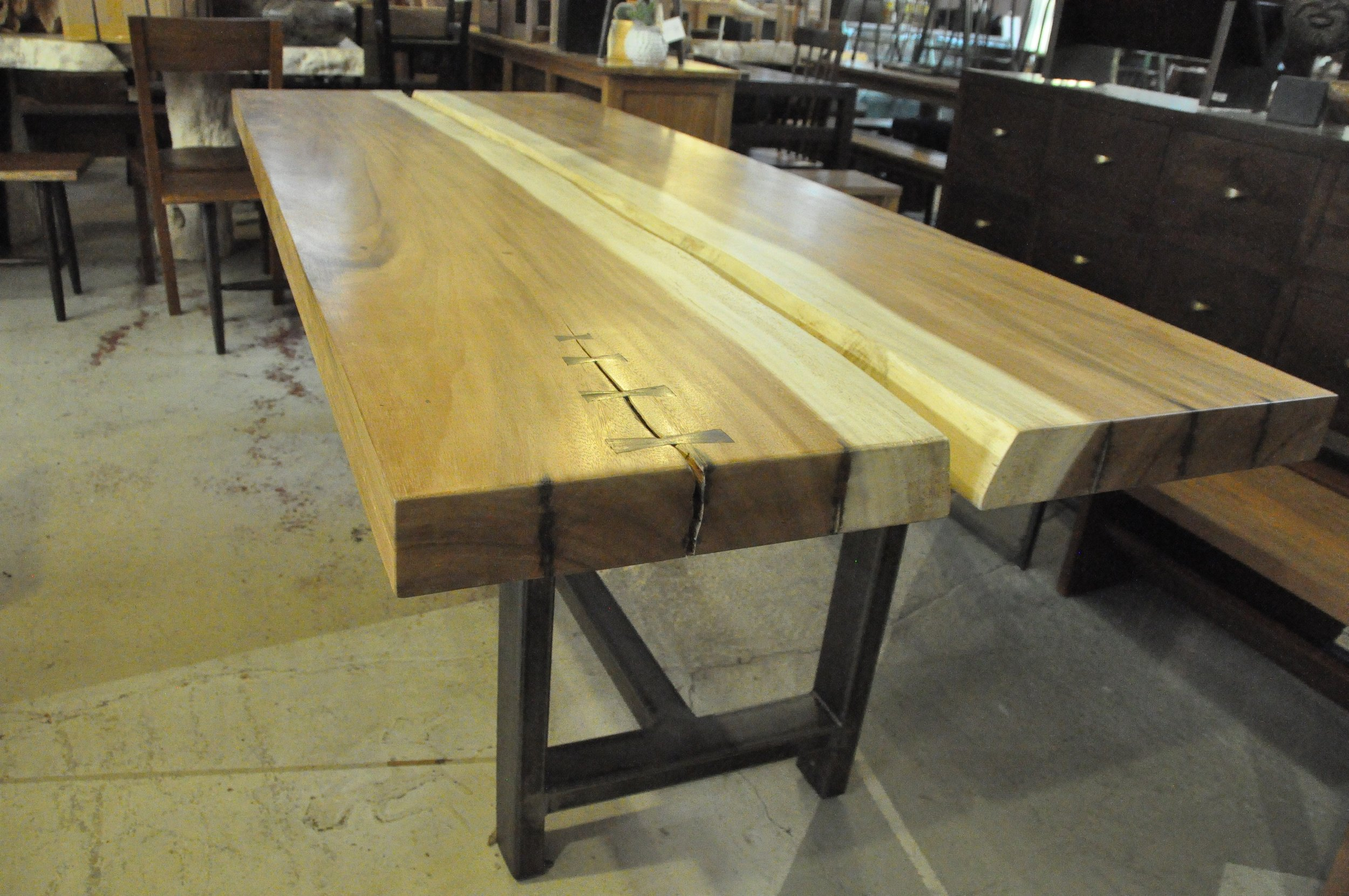 "Communal Saman Table  88""W x 35""D x 29.5""H  $2,265.00"