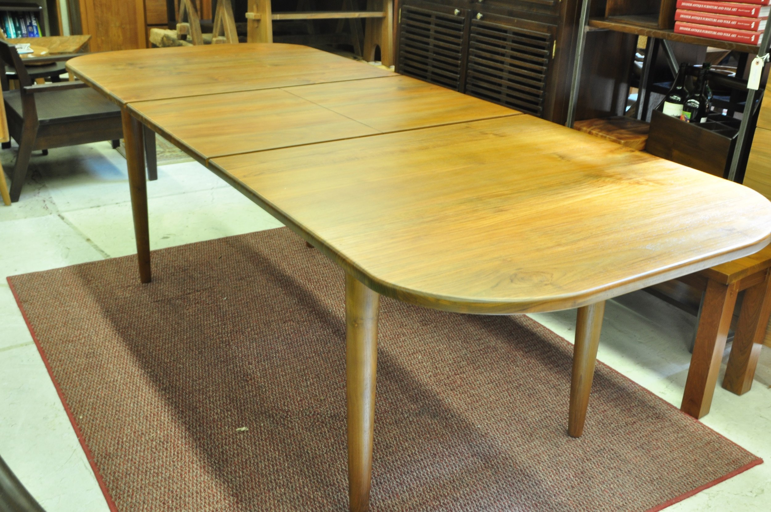 "Oval Extending Table  72-96""L x 38""D x 30""H  Price: $1,795"