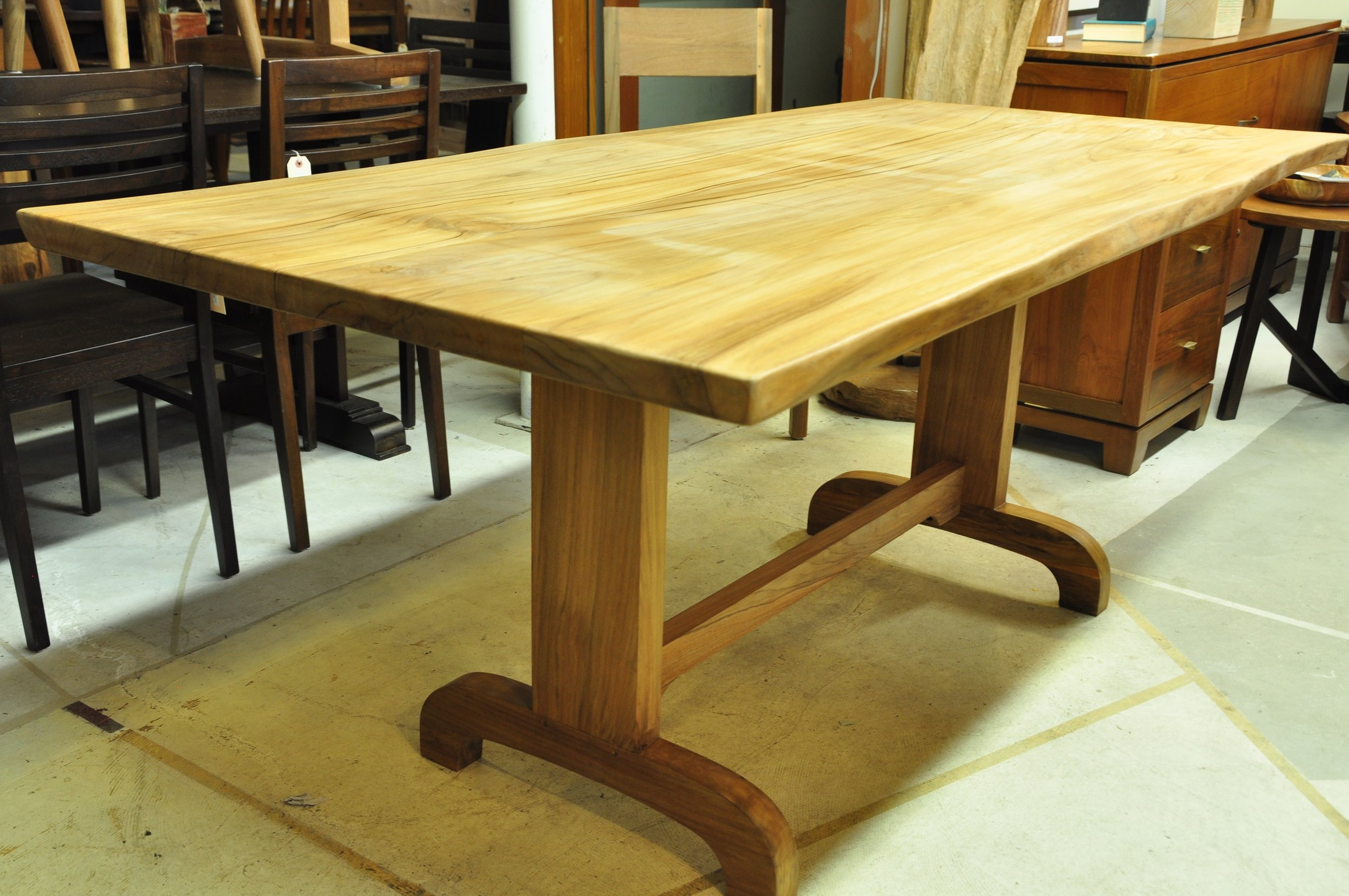 "Split Dining Table  72""W x 34""D x 30""H  Price: $1,475.00"