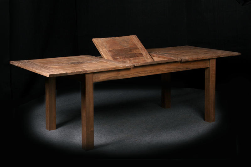 "Extendable Dingklik Table  $1,275, 48""L to 60""L x 48""W x 30""H  $1,500, 60""L to 84""L x 36""W x 31""H"