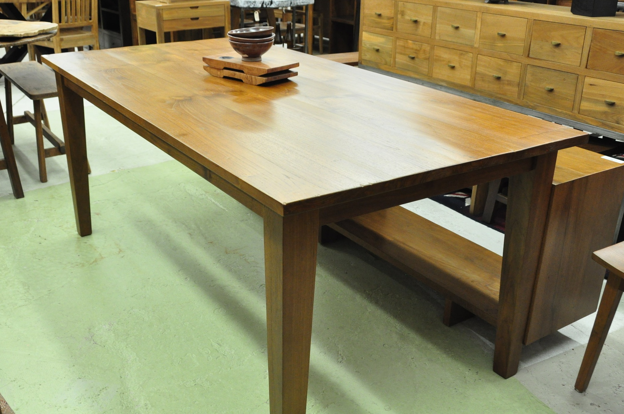 "Lesung Table  $895, 60""L x 36""D x 30""H  $995, 72""L x 36""D x 30""H"
