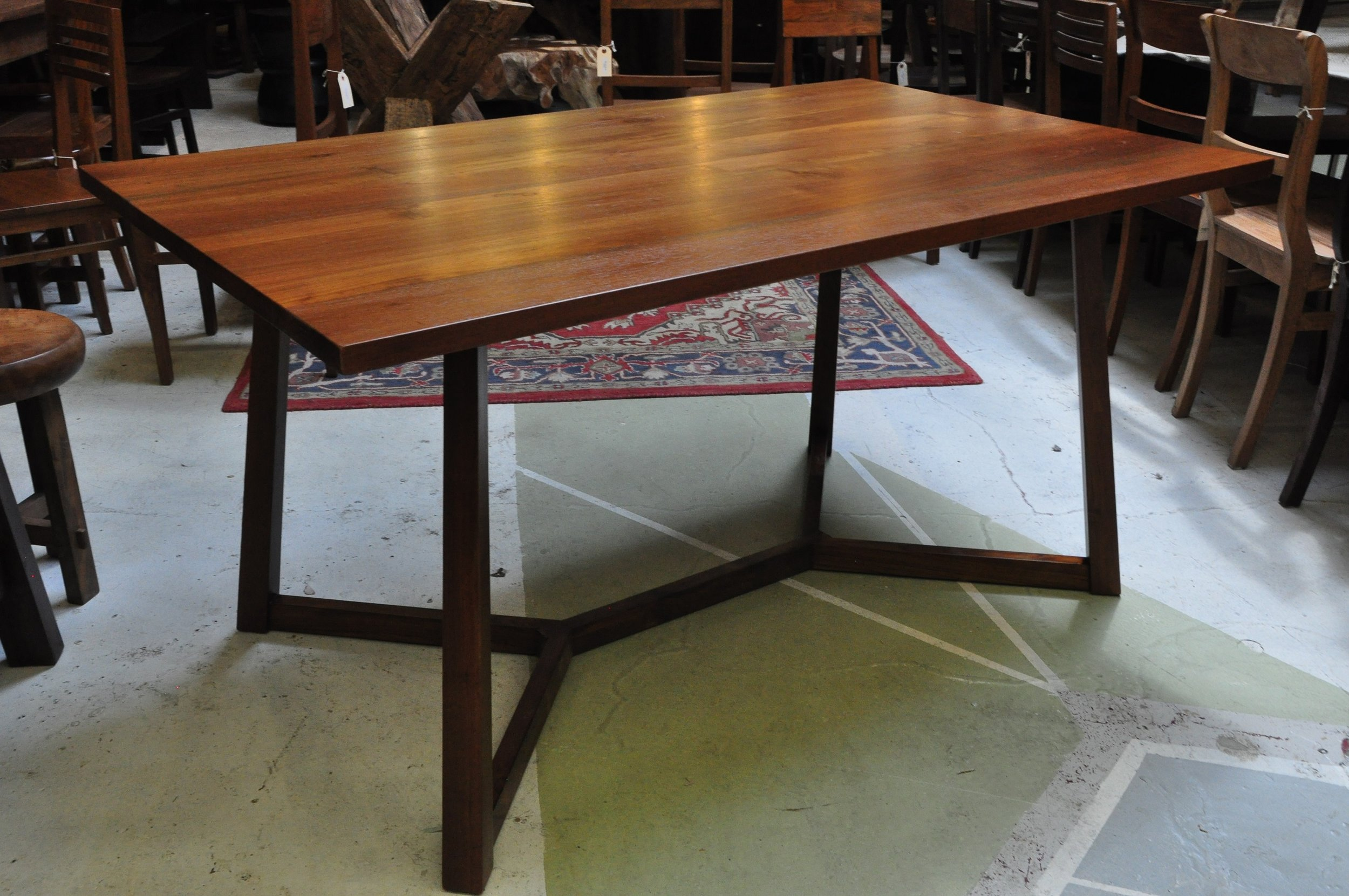 "Rangka Table  $1,564, 72""L x 36""D x 30""H  $1,195, 60""L x 36""D x 30""H"