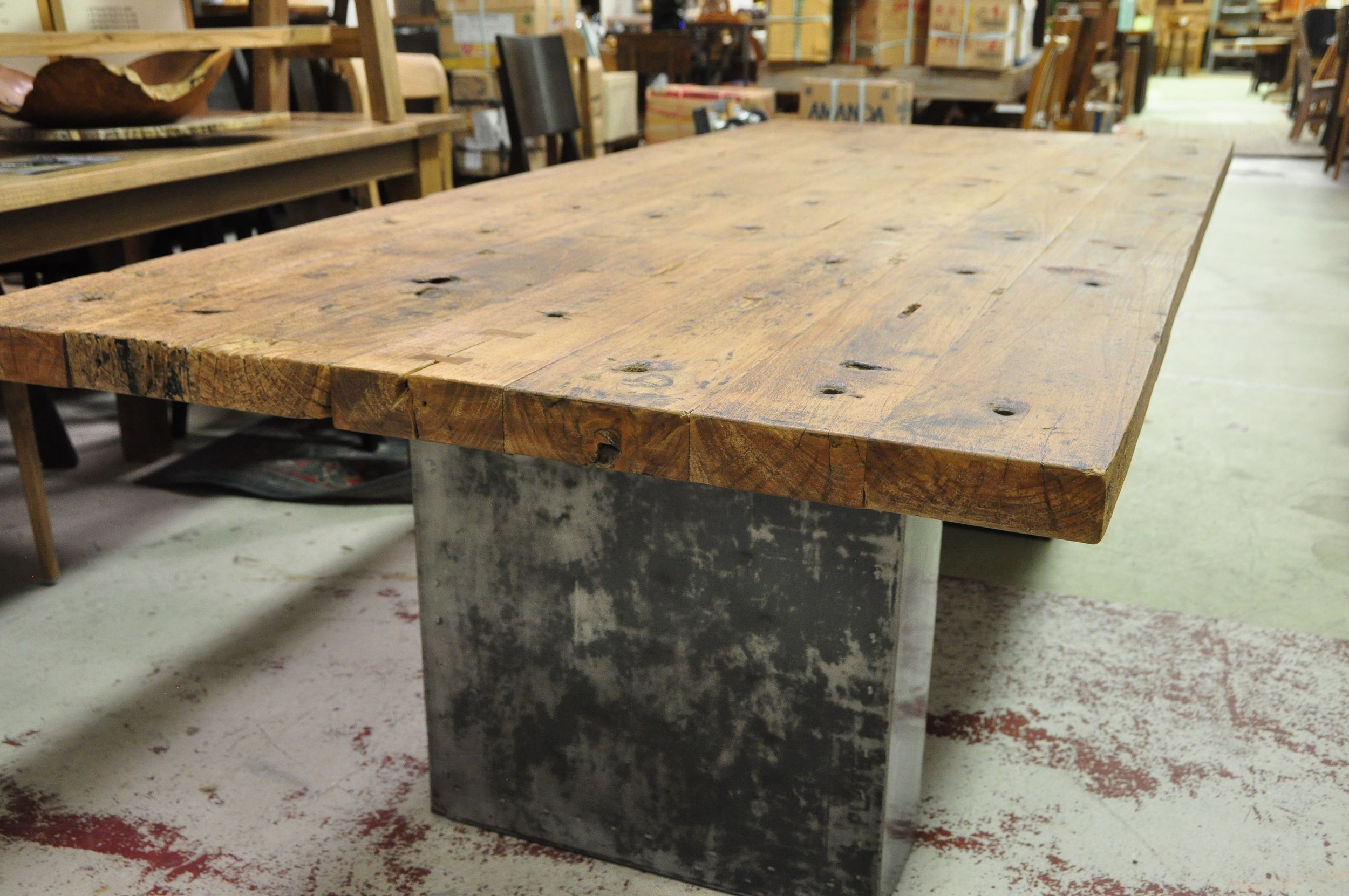 "Aus Metal Base Table  Price: $2,675  88""L x 41""D x 30""H"