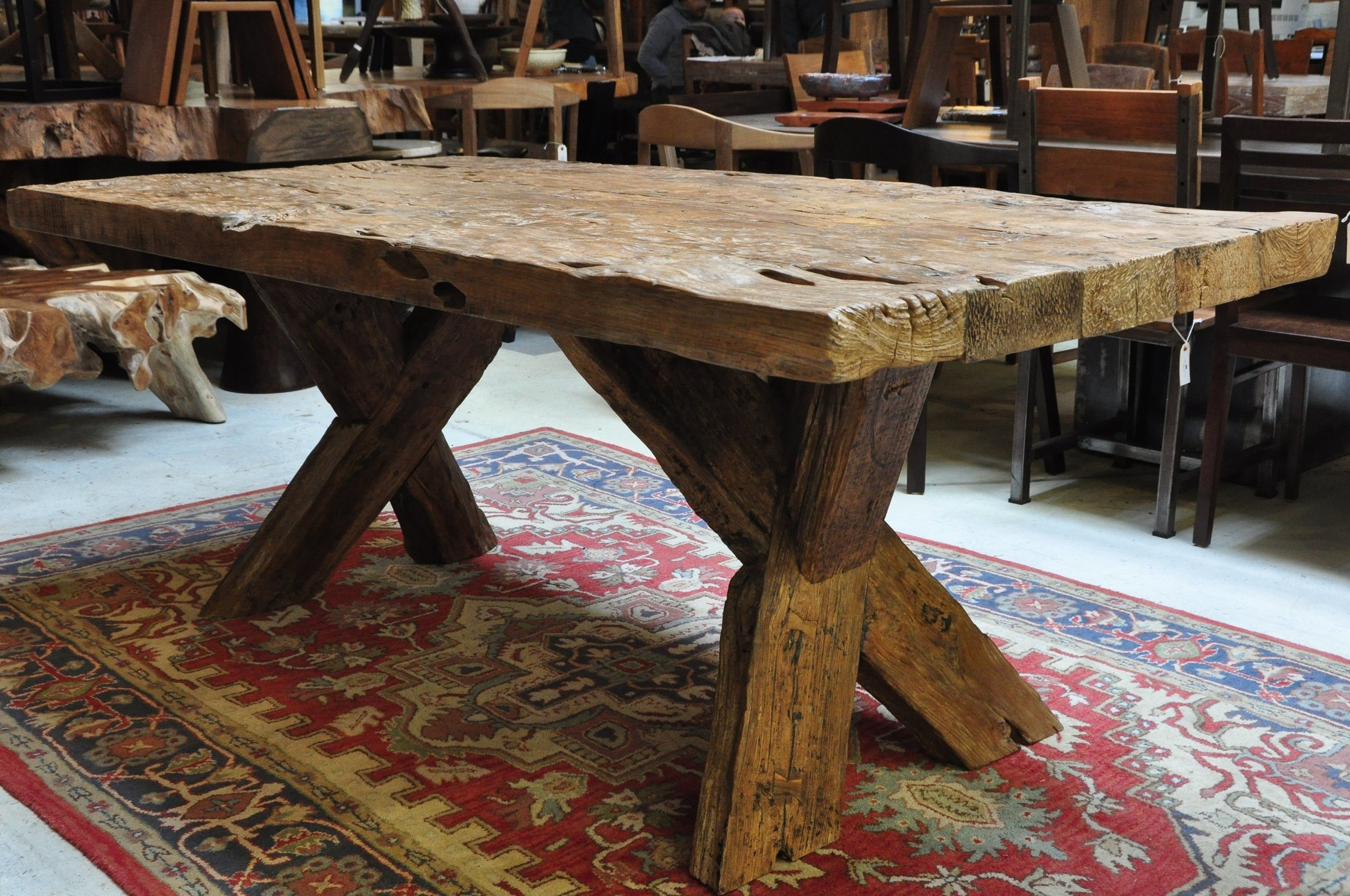 "Aus Cagak Table  $2,932, 78.75""L x 37""D x 30""H  $3,454, 118""L x 37""D x 30""H"