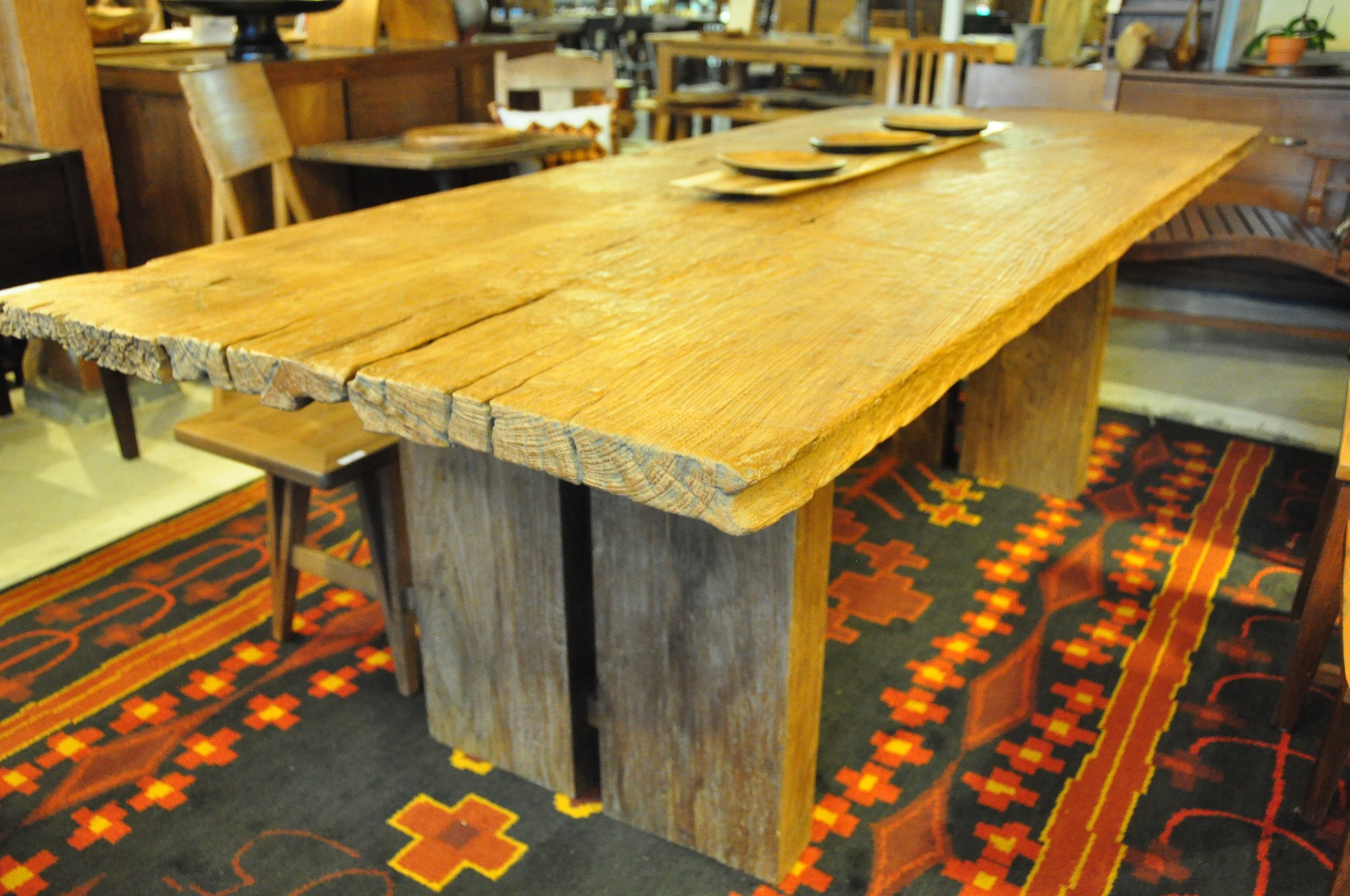 "Teak Log Aus Table  Price: $2,618  95""L x 38""D x 31""H"