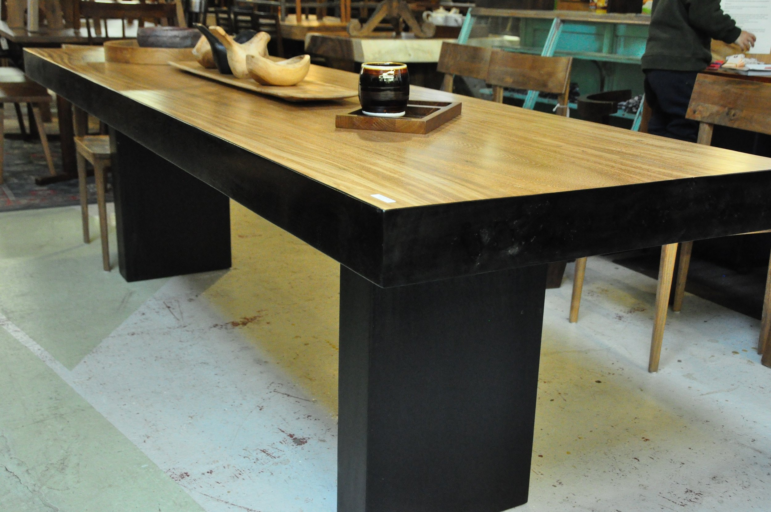 "Rose Wood Table  110""L x 31""D x 31""H  Price: $4,347   83""Wx36""Dx31""H  Price: $2,975"