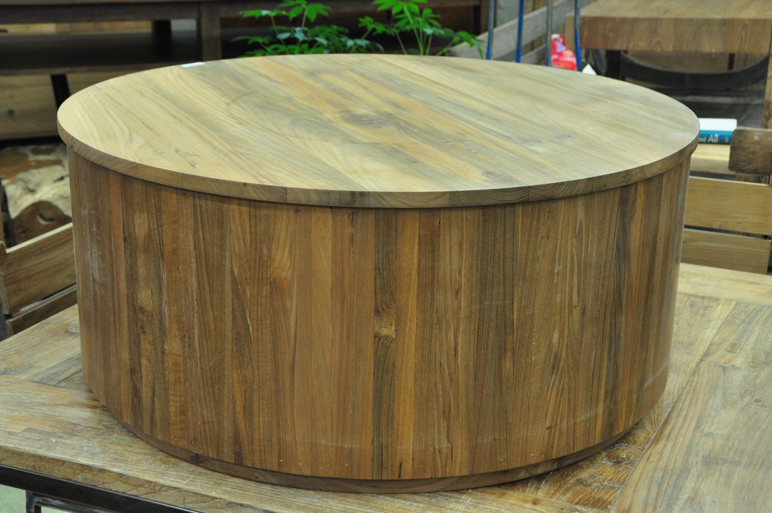 "Cylinder Coffee Table  36""D x 16""H  Price: $1,018"