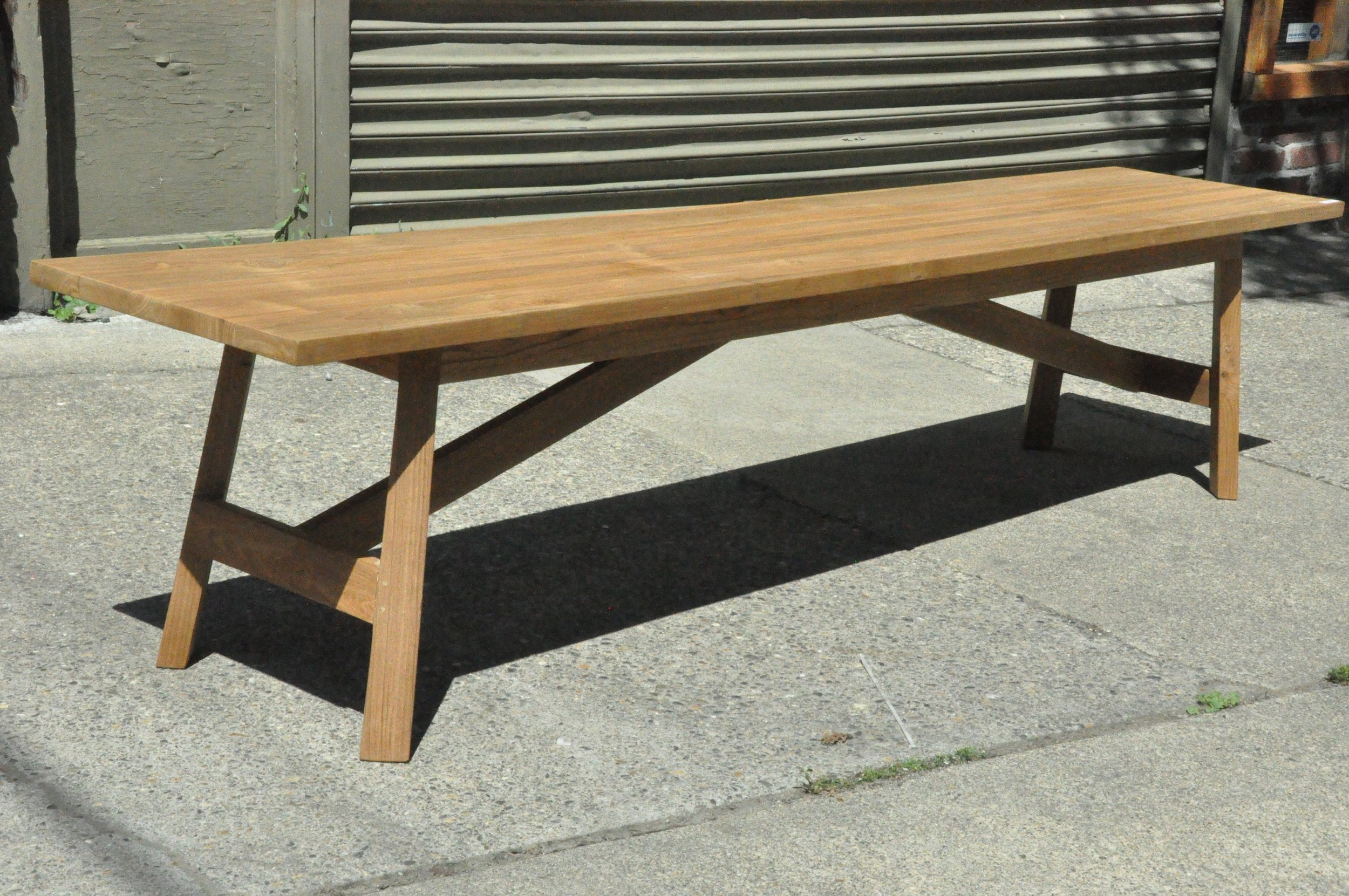 "Siku Bench  84""Wx16""Dx18""H  Price: $615"