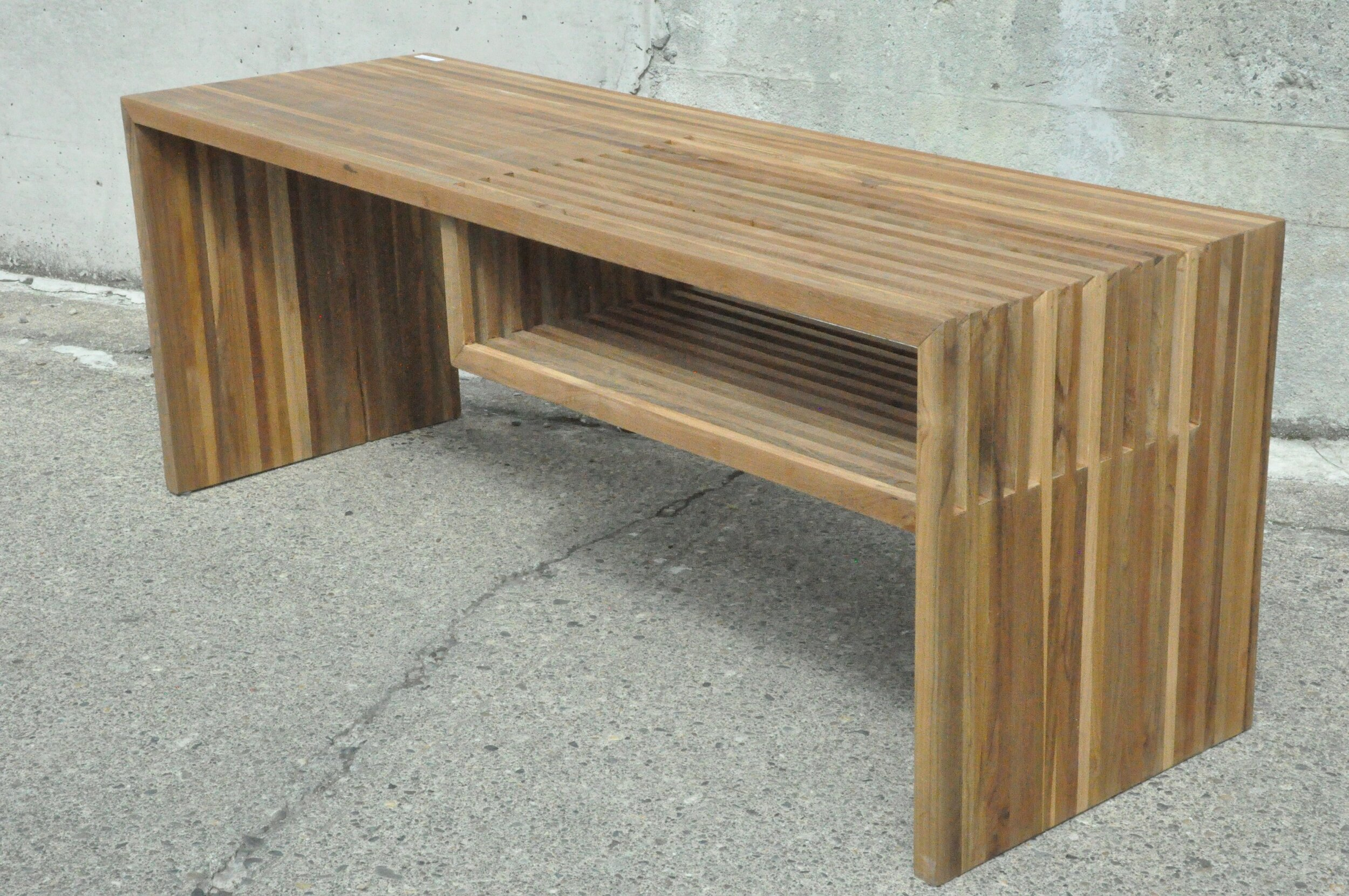 """Slatted Bench  47""""Wx16""""Dx18""""H  Price: $300"""