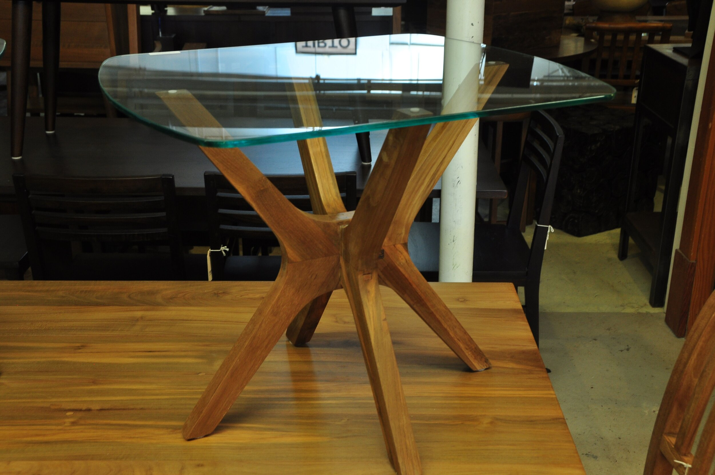 """Silang Side Table  24""""W x 20""""D x 19""""H  Price: $295"""