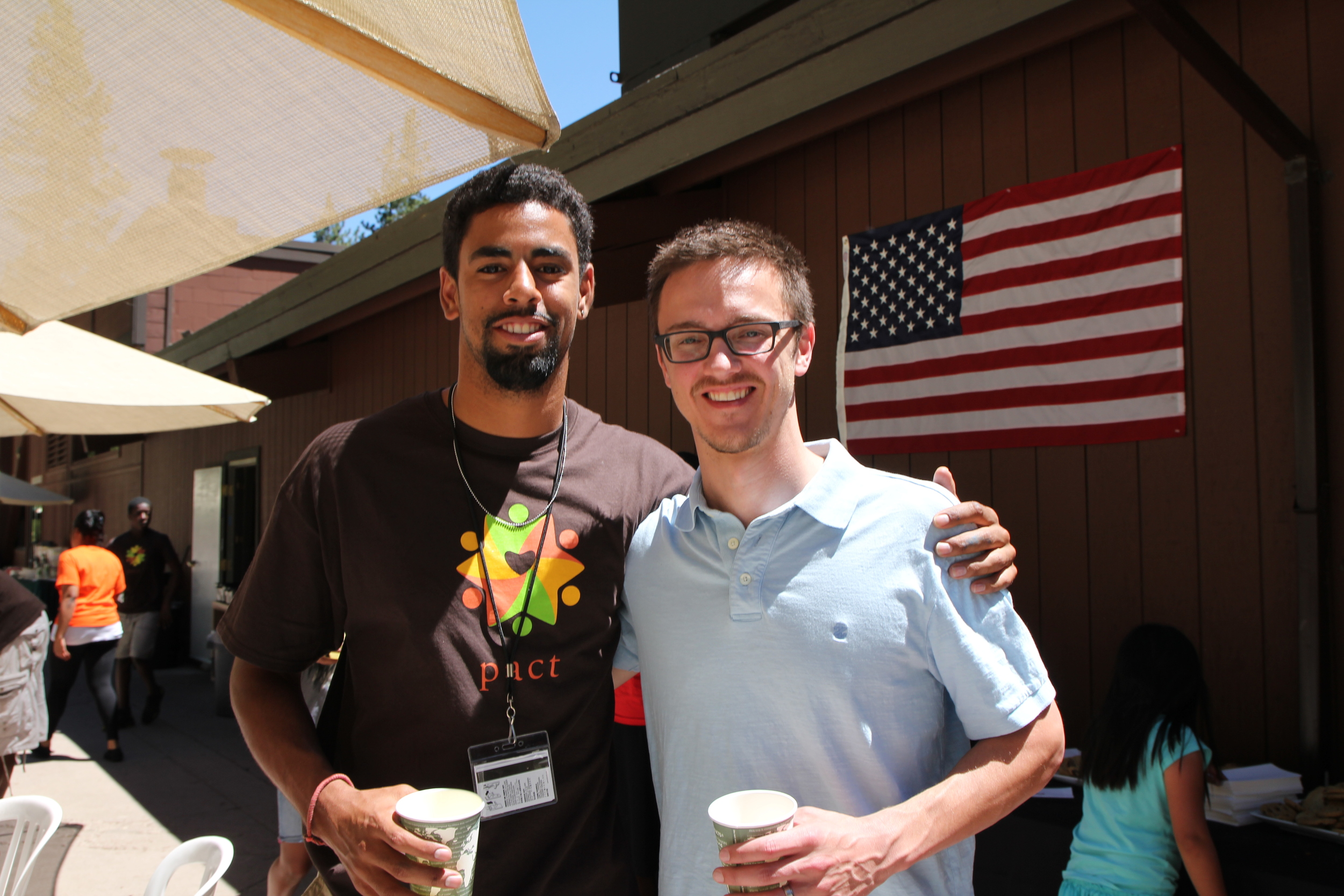 Me with Dwight, a PACT counselor