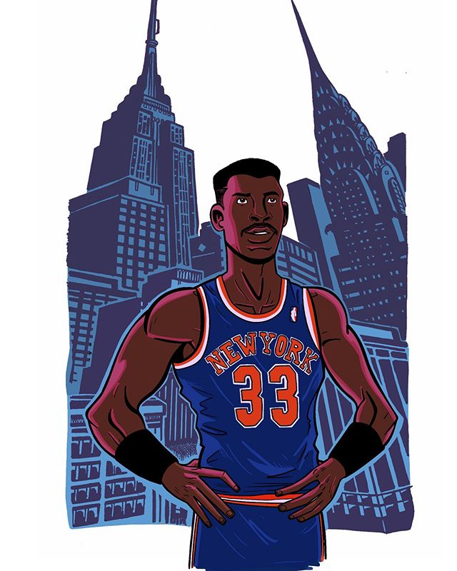 Good luck today NY Knicks.  #PatrickEwing #33 #NBADraftLottery #NBADraft #NYC #Knicks  #90s #newyorkknicks #newyork #Ewing #maythedraftgodsblessuswithagoodpick #newyorkcity #nba #basketball #draw #drawing #digital #sketch #art #illustration #ipad #procreate