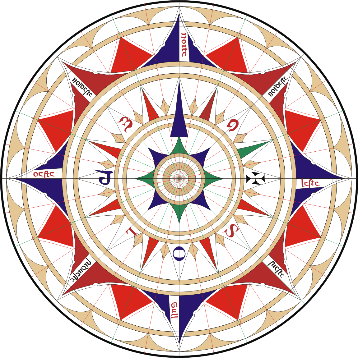 Wind rose, an image from Wikimedia Commons (click to view at full size).