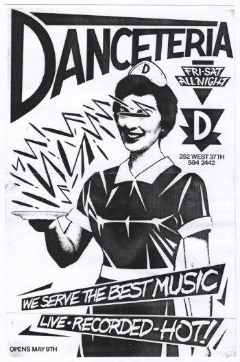 Danceteria flyer for opening night. Courtesy of Rudolf Piper.