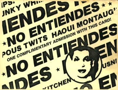 No Entiendes card. Courtesy of John Argento.