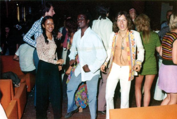 Baldelli on the Tabù dance floor, 1972.