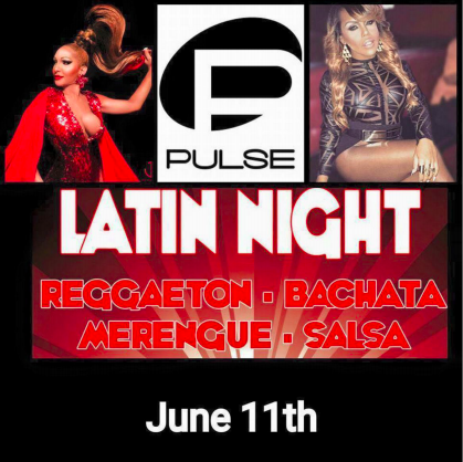 Figure 2: Flyer for the Saturday night party at Pulse on 11 June 2016.