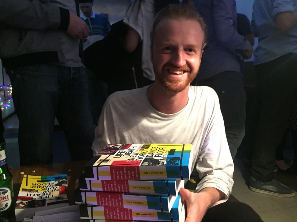 Matt Gregory at  Lucky Cloud Sound System's London Loft party in the autumn. It's not often that someone purchases five copies of the book...