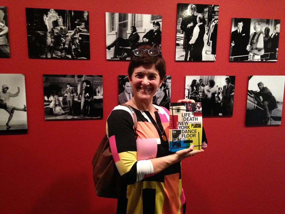 In another bold fashion-meets-cover-art statement, here's my sister  Tessa Lawrence at the Museum of Modern Art launch. The legendary  Chi Chi Valenti approved of the combination. There can be no higher praise.