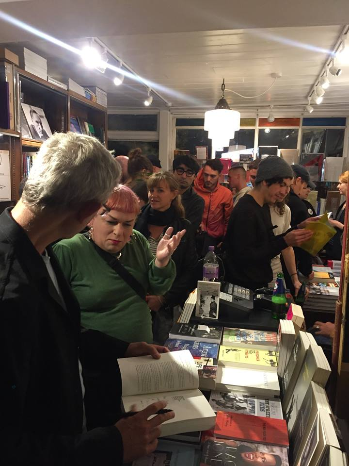 Signing books in Donlon Books, London. (Thought it was time to update my cover photo. I had brown hair the last time I did this--when the Arthur Russell book came out...)