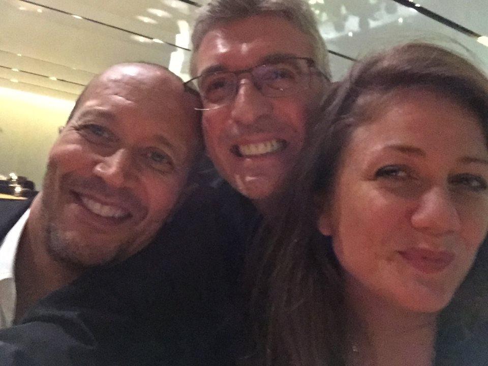 In the MoMA bar- L>R Michael Holman, me, fiancee of Michael Holman..jpg