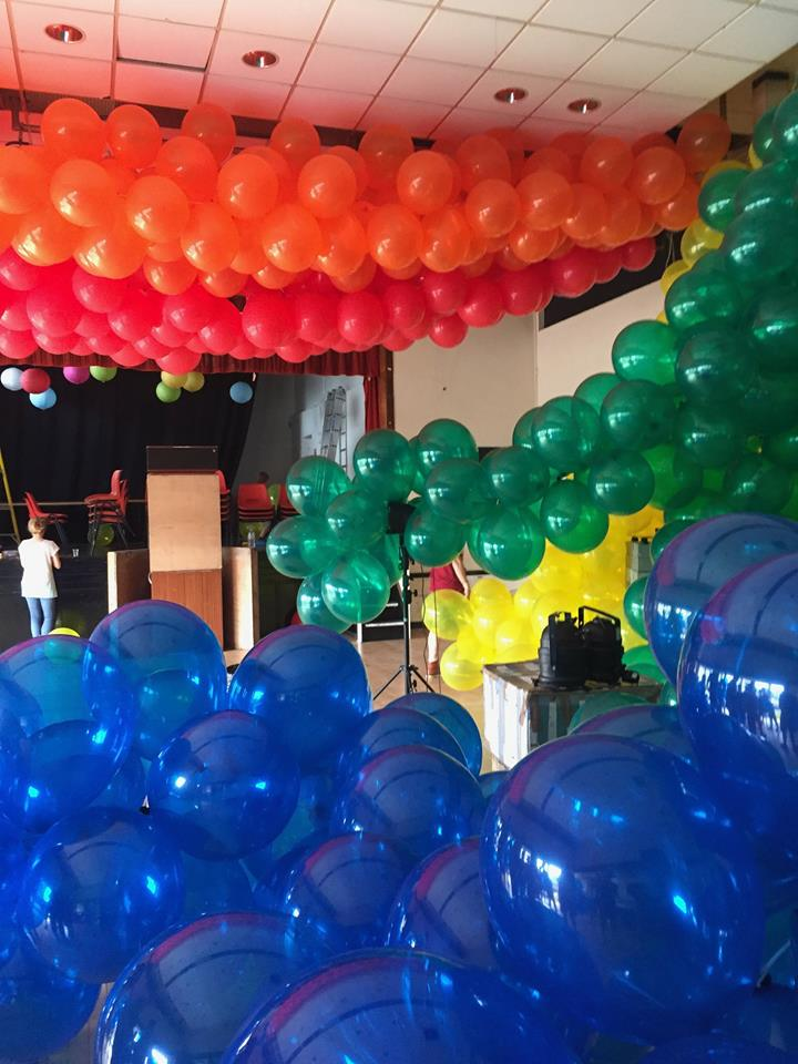 Balloon take-over at the Lucky Cloud summer party.