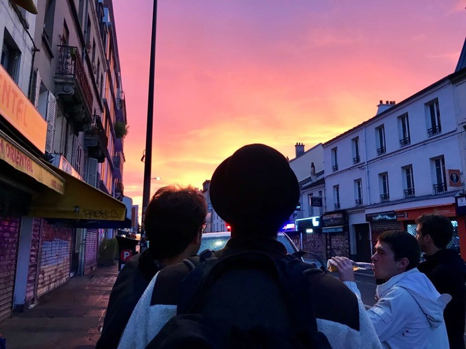 Belle Bete and headwear as the Parisian dawn captures the energy of the night just passed
