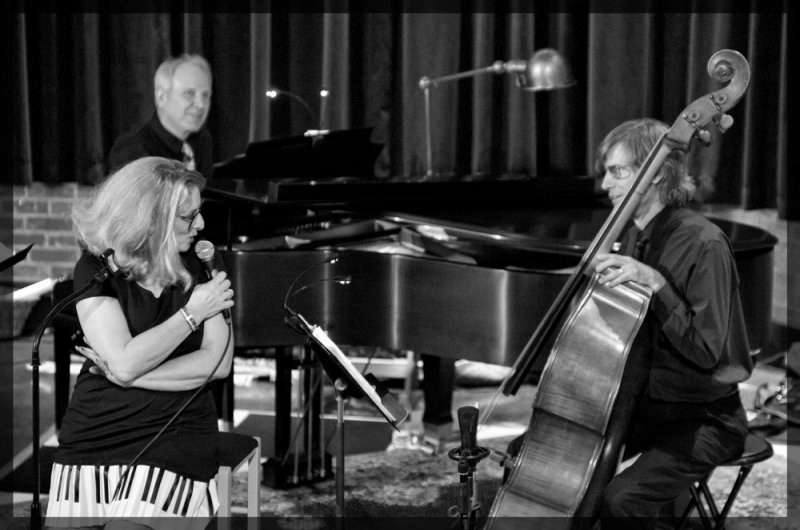 Ellen Ciompi with pianist Glenn Mehrbach and bassist Robbie Link