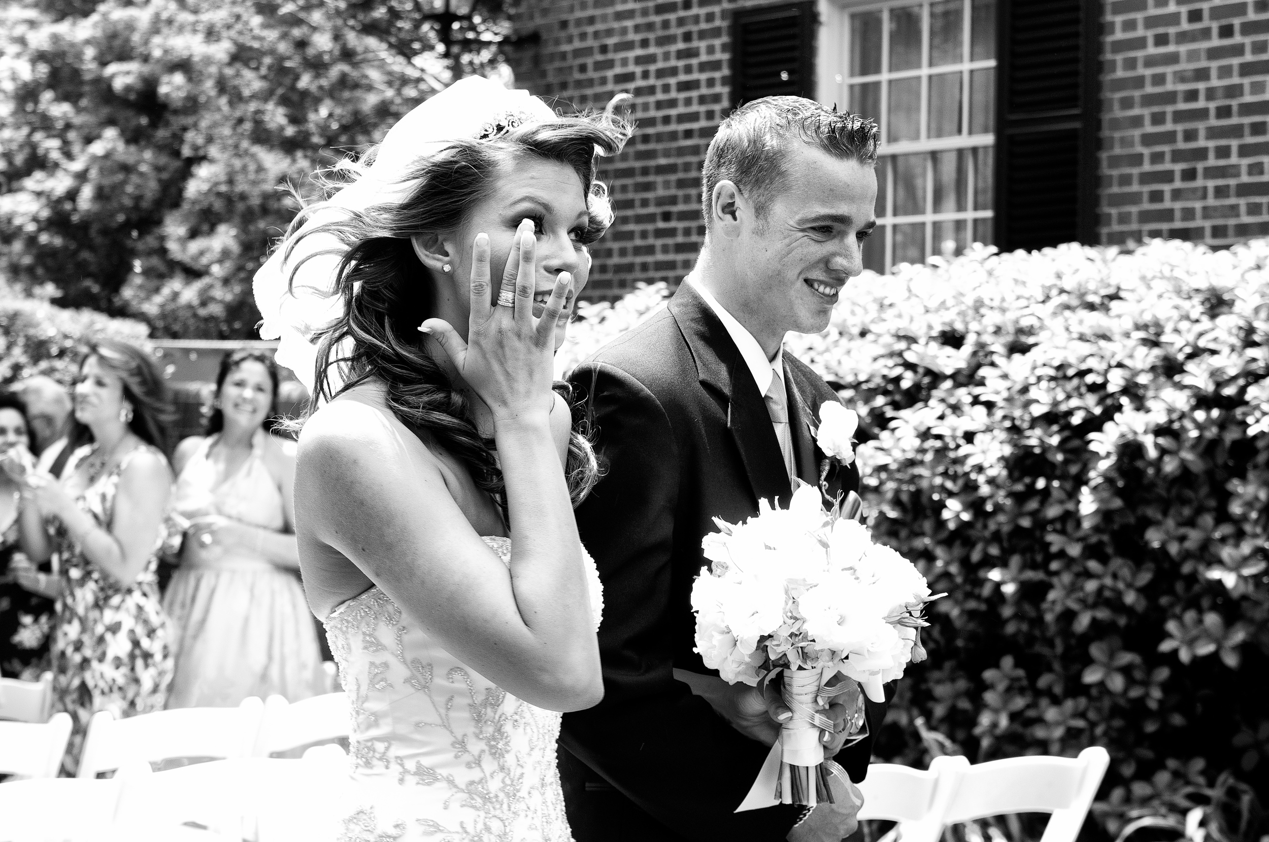 Bride overcome with tears right after being married, Kenneth Light Studios