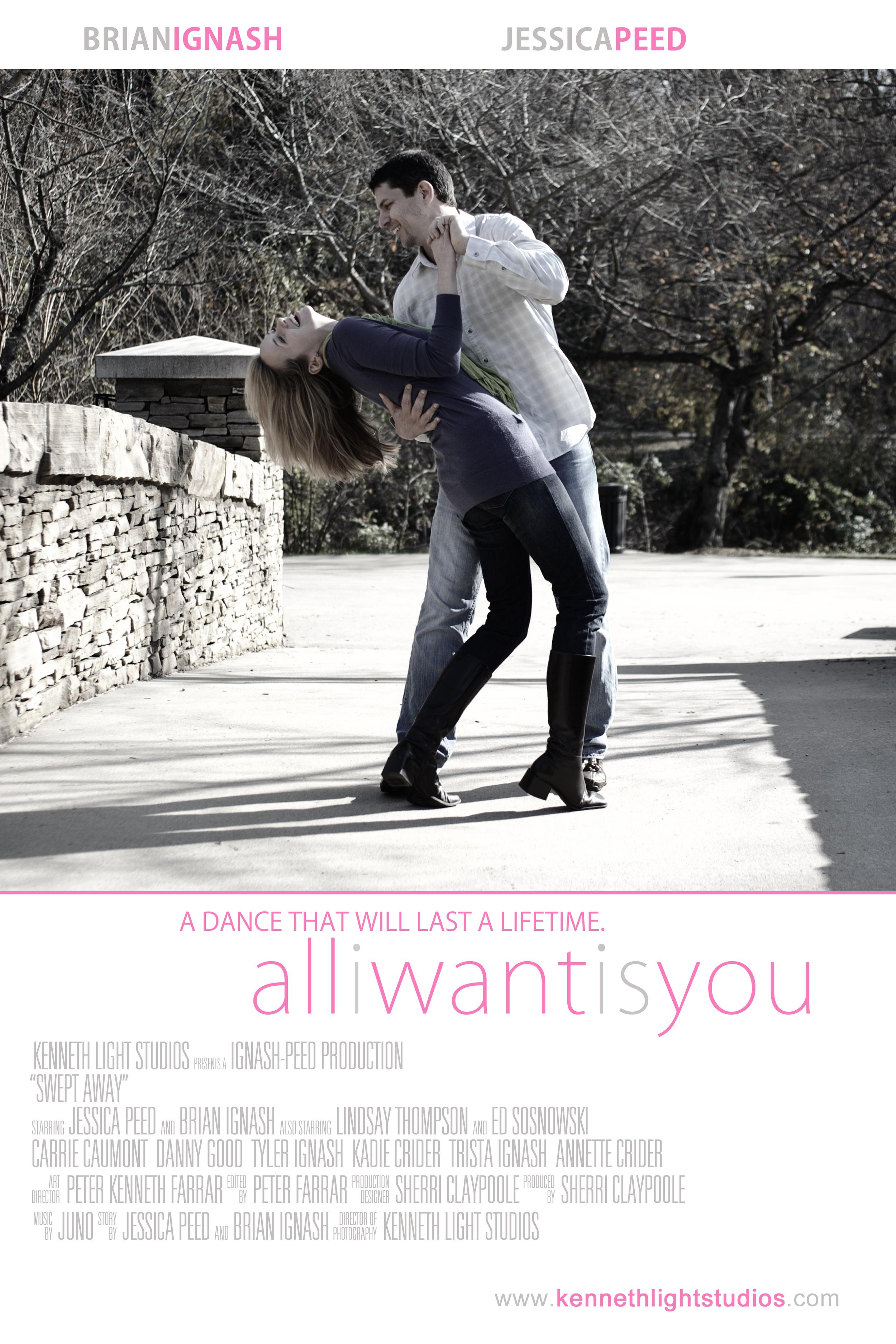 Movie Poster of Engaged Couple Dance, Basingstoke Wedding Photograhers