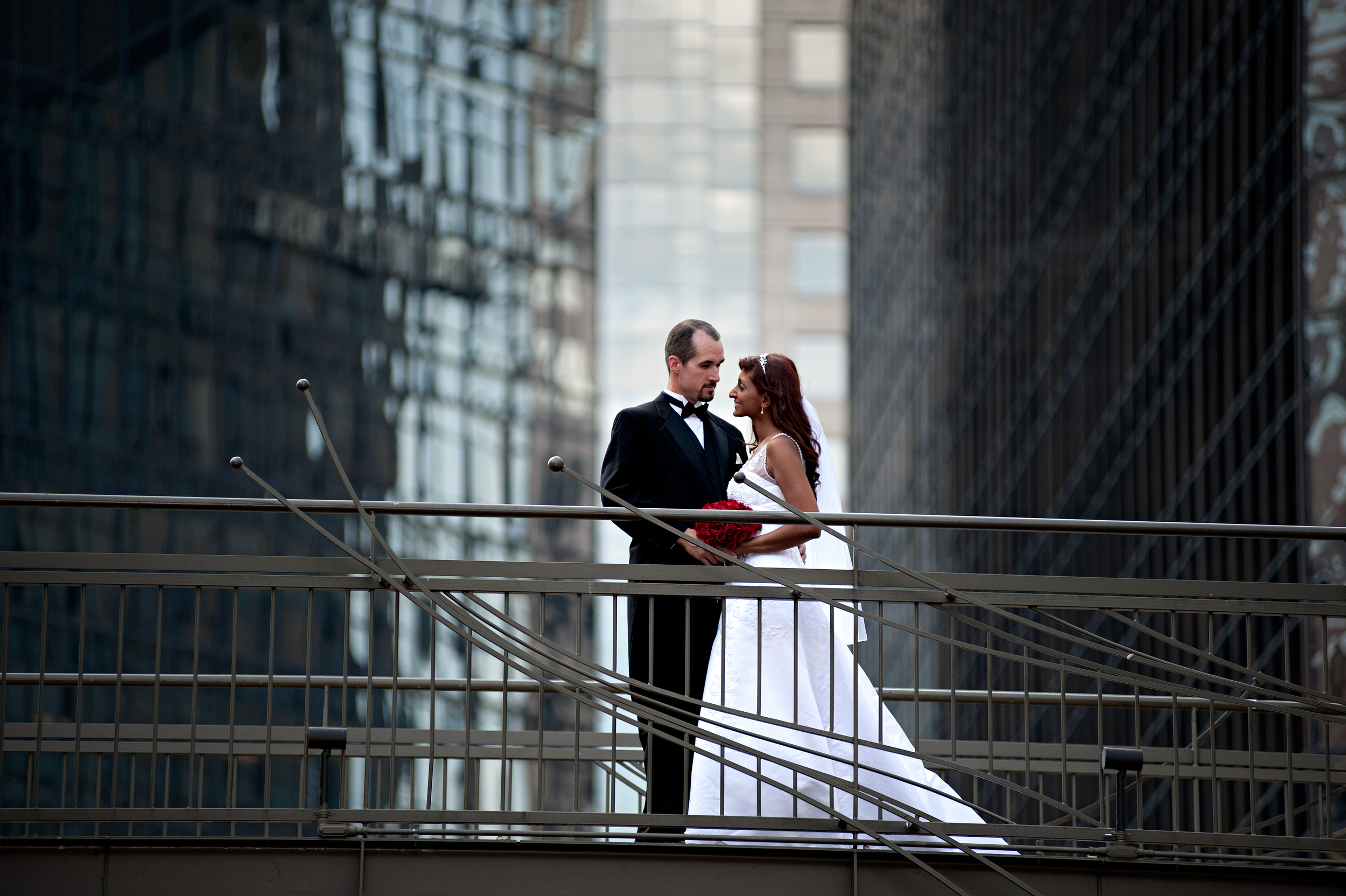 Uptown Charlotte Wedding for Kenneth Light Studios