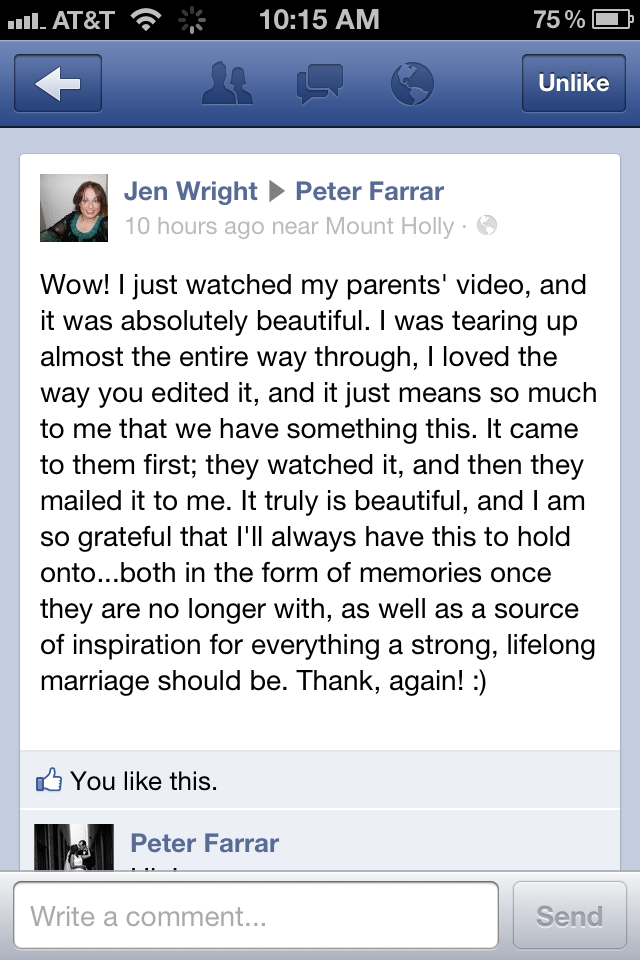 Jens Parents Memoirs, special moments recorded for her